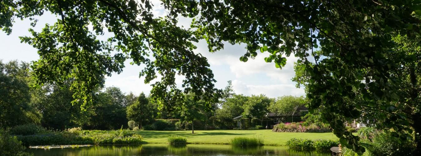 Wiecher Huisman; tuin in Elim